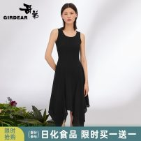 Dress Winter of 2019 black S M L Middle-skirt singleton  Sleeveless commute Crew neck High waist Solid color Socket Irregular skirt routine Others 30-34 years old Girdard / brother-in-law Simplicity A500063 51% (inclusive) - 70% (inclusive) cotton Same model in shopping mall (sold online and offline)