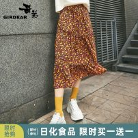 skirt Autumn 2020 S M L Fragmentary pollen Mid length dress grace High waist Umbrella skirt Broken flowers Type A 30-34 years old More than 95% Girdard / brother-in-law polyester fiber Polyester 100% Same model in shopping mall (sold online and offline)
