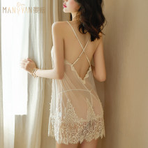 Dress Summer 2020 Beige skirt + T pants, beige skirt + T pants + white silk socks One size fits all (confidential delivery) Short skirt Two piece set Sleeveless Sweet middle-waisted Solid color Socket A-line skirt camisole Type H Hollowed out, bare back princess