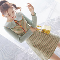 Dress Winter 2020 Picture color S M L XL Middle-skirt singleton  Long sleeves commute Doll Collar middle-waisted Decor zipper A-line skirt routine Others 25-29 years old Type A City of fragrance Korean version AF07673 More than 95% polyester fiber Polyester 100% Exclusive payment of tmall