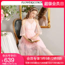 Dress Summer of 2019 Pink S M L XL XXL Mid length dress singleton  elbow sleeve commute Crew neck High waist Solid color Socket Princess Dress Princess sleeve Others 25-29 years old Flowerscoming lady More than 95% polyester fiber Polyester 100%