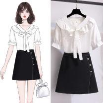 Fashion suit Summer 2021 S,M,L,XL White dress ten skirt, red dress ten skirt, white coat, red coat, skirt 18-25 years old 81% (inclusive) - 90% (inclusive) cotton
