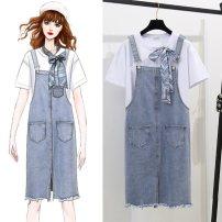 Fashion suit Summer 2021 S,M,L,XL Top ten skirt, top, skirt 81% (inclusive) - 90% (inclusive) cotton