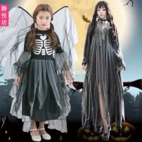 Children's performance clothes female Jingyuefang Polyethylene terephthalate (polyester) 100% 5 years old, 6 years old, 7 years old, 8 years old, 9 years old, 10 years old, 11 years old, 12 years old, 13 years old, 14 years old Summer of 2018