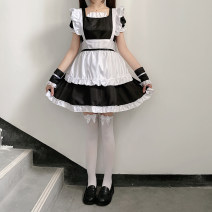 Cosplay women's wear skirt goods in stock Over 14 years old Headdress + sleeve + apron + dress S M L XL Jingyuefang J005