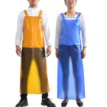 apron Blue, yellow, blue apron with sleeves, white apron, white apron with sleeves, black apron, black apron with sleeves Sleeveless apron waterproof Simplicity PVC Household cleaning Average size 35 silk double shoulder apron_ ig4 public yes Solid color