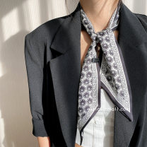 Scarf / silk scarf / Shawl Imitation silk Black and white black camel yellow gray Spring and autumn, summer and winter female Scarves / scarves multi-function Korean version rectangle Student youth middle age Geometric pattern printing 9cm 96cm More than 96% Only love 20XSJ125 Spring 2021 no