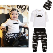 suit SAMGAMI BABY 80cm,90cm,100cm,70cm male spring and autumn Europe and America Long sleeve + pants 3 pieces routine No model Socket Detachable cap cotton children Expression of love Class A Cotton 100%