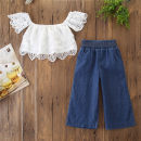 suit Other / other As shown in the figure 90cm,100cm,110cm,120cm,130cm female summer Britain Short sleeve + pants 2 pieces Thin money There are models in the real shooting Socket nothing Solid color cotton children Expression of love Class A Cotton 95% other 5% Chinese Mainland Guangdong Province