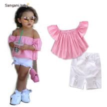 suit SAMGAMI BABY As shown in the figure 80cm 90cm 100cm 110cm 120cm 130cm female summer Europe and America Sleeveless + pants 2 pieces routine Socket