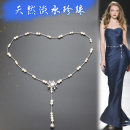 Belt / belt / chain other white female Waist chain grace Single loop Middle aged youth Smooth button Diamond inlay Glossy surface 0.9cm copper Bare body inlaid diamond beads Imperial concubine FM-9-200 90cm 99cm Summer of 2019
