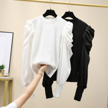 T-shirt White, black M [80-100 Jin], l [100-115 Jin], XL [115-130 Jin], 2XL [130-145 Jin], 3XL [145-160 Jin], 4XL [160-180 Jin] Winter 2020 Long sleeves Crew neck easy Regular other commute other 96% and above Korean version Solid color Other / other 12-4