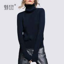 Wool knitwear Autumn 2020 S M L Navy Blue Long sleeves singleton  Socket Viscose 51% (inclusive) - 70% (inclusive) Regular street High collar routine Solid color Socket MGAZ125026 30-34 years old My bun Viscose (viscose) 70.4% polyester 29.6% Europe and America