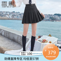 skirt Spring 2021 S M L black Short skirt Versatile High waist A-line skirt Solid color Type A 25-29 years old A811218 More than 95% Fragrant shadow polyester fiber Polyester 100% Same model in shopping mall (sold online and offline)