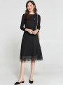 Dress Spring 2021 Mid length dress singleton  Nine point sleeve Crew neck middle-waisted Socket routine 30-34 years old 9 Charms