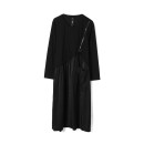 Dress Spring 2021 black F Mid length dress singleton  Long sleeves Sweet Crew neck middle-waisted Socket routine 30-34 years old 9 Charms