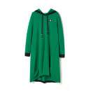 Dress Spring 2021 Green, black, white, yellow, orange F Middle-skirt singleton  Long sleeves Hood middle-waisted Socket routine 25-29 years old 9 Charms