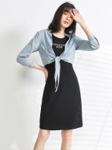 Fashion suit Spring 2021 L,XS,XL,S,M,F,2XL,4XL,3XL,5XL,6XL Denim blue 25-35 years old 9 Charms