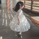 Dress White full Sequin princess skirt, pink full Sequin princess skirt female Other / other Polyester 100% summer princess Short sleeve Solid color blending Cake skirt Class B Seven, eight, three, six, 18 months, two, five, four, nine Chinese Mainland Zhejiang Province