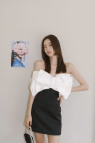 Dress Summer 2020 Black for white, 95% off for one yuan XS,S,M,L,XL Short skirt singleton  Sleeveless commute One word collar High waist Solid color Socket Pencil skirt routine Type H 81% (inclusive) - 90% (inclusive) other other