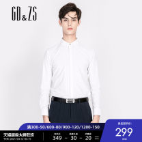 shirt Fashion City GD & ZS / gedu · zuozhi 165/S 170/M 175/L 180/XL 185/XXL white routine square neck Long sleeves Self cultivation Other leisure summer LBAGA3529 youth Regenerated cellulose fiber 50% polyester fiber 46.5% polyurethane elastic fiber (spandex) 3.5% Business Casual 2020 Solid color