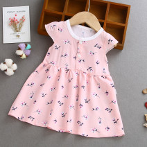 Dress female Other / other Cotton 90% other 10% summer princess Broken flowers 3 months, 12 months, 6 months, 9 months Chinese Mainland