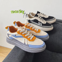 canvas shoe 39,40,41,42,43,44 Frenulum Low Gang Other / other Black, beige Flat heel summer The trend of youth cloth plastic cement ventilation Color matching Machine injection shoes Sewing Simplicity cloth