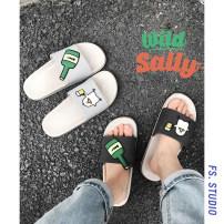 slipper Other / other EVA 40,41,42,43,44 Dark grey, dark blue, white grey summer Flip flop sandy beach Flat heel EVA The trend of youth wear-resisting Adhesive shoes Youth (18-40 years old) Korean version PU