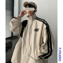 Jacket myfangshao Youth fashion M,L,XL,2XL routine easy Other leisure spring Long sleeves Wear out stand collar like a breath of fresh air youth routine Zipper placket 2021 Rubber band hem Closing sleeve Color matching