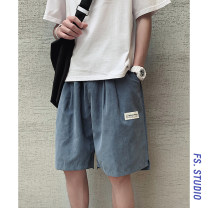 Casual pants myfangshao Youth fashion Black, gray, blue, orange, > Click to view size < (select color in front) M,L,XL,2XL,3XL,4XL,5XL routine Shorts (up to knee) Other leisure easy Micro bomb summer teenagers Basic public 2020 Medium low back Straight cylinder Polyester 100% Overalls Solid color