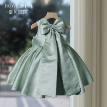 Children's dress Green White Navy 1 bow pink 0142 white 1 poncho skirt white 1 red poncho skirt 1 poncho Skirt Pink female 80cm 90cm 100cm 110cm 120cm 130cm 140cm 150cm 160cm Royal Sasa full dress R01 Class A polyester fiber Flax 80% other 20% Spring 2021 princess