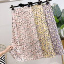 skirt Summer 2020 S,M,L Pink, lavender, yellow Middle-skirt Versatile High waist A-line skirt Decor Type A 25-29 years old More than 95% other other Lotus leaf edge