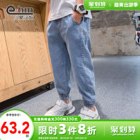 trousers Little elephant ham male 110cm 120cm 130cm 140cm 150cm 160cm blue spring and autumn trousers motion There are models in the real shooting Jeans Leather belt middle-waisted Don't open the crotch Cotton 95.3% polyester 3.7% polyurethane elastic fiber (spandex) 1% X20557 Class B X20557