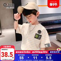 T-shirt Little elephant ham 110cm 120cm 130cm 140cm 150cm 160cm male summer Short sleeve Crew neck There are models in the real shooting nothing cotton other Cotton 97% polyurethane elastic fiber (spandex) 3% Class B Summer 2021