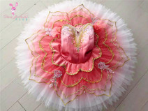 Ballet Costume Dan Yi Ballet female Watermelon red version, watermelon infrared version, white version, white version, green version, green version, yellow version, purple version, purple version, yellow version S,M,L other DY-01026