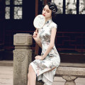 cheongsam Spring 2021 S M L XL 2XL 3XL 4XL Short sleeve long cheongsam Retro Low slit daily Oblique lapel Decor 25-35 years old Piping Luxury · style polyester fiber Polyester 100% Pure e-commerce (online only)