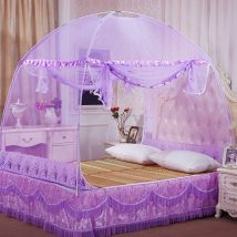 Mosquito net Milky white pink yellow light green purple The scorching sun Double door Yurt style 1.0m (3.3 ft) bed 1.2m (4 ft) bed 1.5m (5 ft) bed 1.8m (6 ft) bed currency glass fibre five hundred and thirty-one thousand six hundred and forty-two Installation required