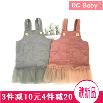 Dress Grey watermelon red Other / other female 73cm 80cm 90cm 100cm 110cm Cotton 95% other 5% winter Original design Strapless skirt Solid color cotton Strapless skirt 0c30555 Class A