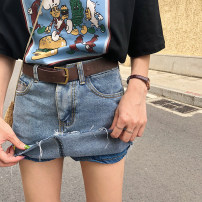 skirt Summer of 2019 L,M,S Picture color Short skirt commute High waist Denim skirt Type A 18-24 years old 51% (inclusive) - 70% (inclusive) Other / other cotton Korean version