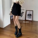skirt Winter 2020 S,M,L Split, normal Short skirt High waist A-line skirt 18-24 years old
