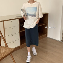 Fashion suit Summer 2021 Average size T-shirt, skirt, T-shirt + skirt [suit] 18-25 years old 96% and above
