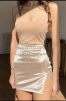 skirt Spring 2021 XS,S,M,L Champagne, black