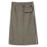 skirt Winter 2020 155/64A/S 160/68A/M 165/72A/L 170/76A/XL 175/80A/XXL Black yellow Mid length dress commute High waist High waist skirt houndstooth  Type H 25-29 years old D046801Q10M 51% (inclusive) - 70% (inclusive) Tricolor polyester fiber chain Retro