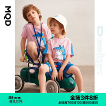 T-shirt Taofen Taofen (pre sale) shoot first, start first MQD 110cm 120cm 130cm 140cm 150cm 160cm male summer Short sleeve Crew neck leisure time There are models in the real shooting nothing cotton Cartoon animation Cotton 100% D21220303 Class B other Spring 2021