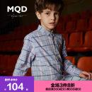 shirt MQD male 110cm 120cm 130cm 140cm 150cm 160cm 170cm spring and autumn Long sleeves Korean version lattice cotton Lapel and pointed collar Cotton 100% Class B Spring of 2018