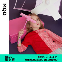 T-shirt Red bar red bar (pre sale) quality assurance MQD 110cm 120cm 130cm 140cm 150cm 160cm female spring and autumn Long sleeves Crew neck Korean version There are models in the real shooting nothing cotton other Cotton 100% G20130313 Class B