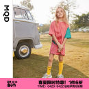 Dress Taohong 19 years old shop 1 female MQD 110cm 120cm 130cm 140cm 150cm 160cm Cotton 100% summer Korean version Short sleeve Cartoon animation cotton Splicing style G20232198 Class B Spring 2020