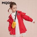 Windbreaker bright red 110cm 120cm 130cm 140cm 150cm 160cm MQD female leisure time No detachable cap Zipper shirt Polyester 100% Class C Autumn of 2019