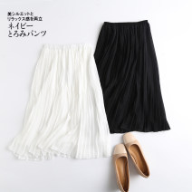 skirt Spring 2021 Average size Black, white Middle-skirt Pleated skirt Solid color 18-24 years old 51% (inclusive) - 70% (inclusive) other other
