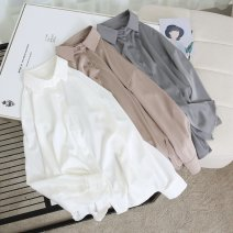 shirt White, gray, khaki Average size Spring 2021 other 96% and above Long sleeves Regular wimigirls